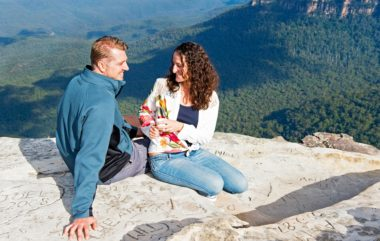 Couple Enjoying the Blue Mountains Scenery