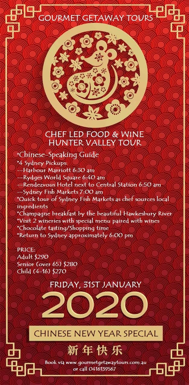 Chinese New Year Food and Wine Tour